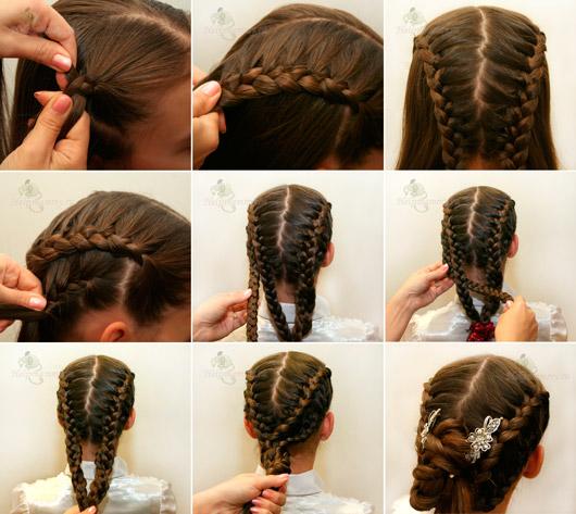 Как делать красивые причёски в школу