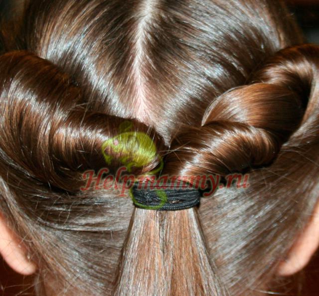Прическа на длинные волосы эрида