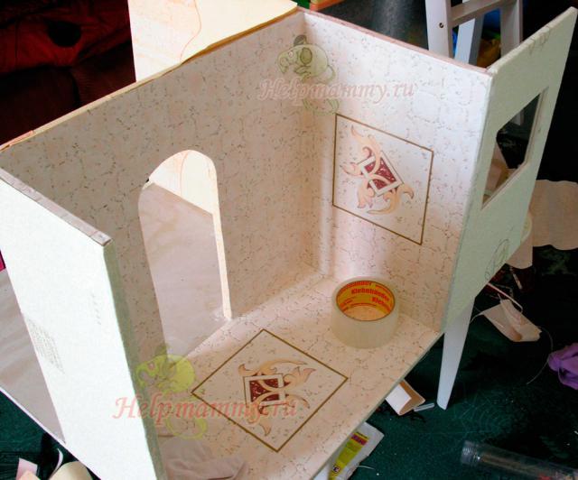 Кукольный домик из гипсокартона своими руками пошаговая инструкция с фото