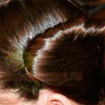 Закручиваем прядь волос в жгут