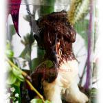 Шоколадная собачка с кулоном